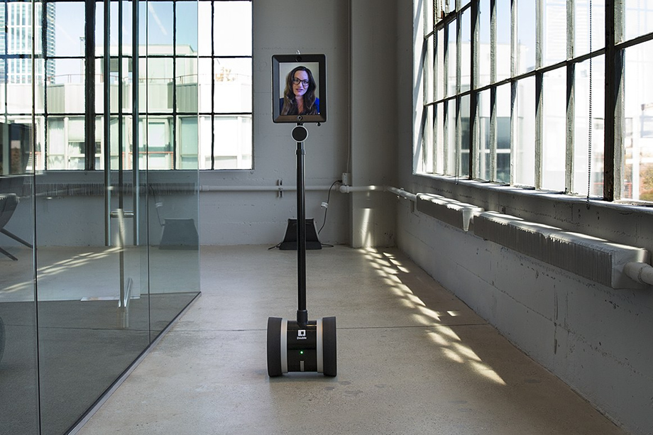 Double Telepresence robot in actionDouble Telepresence robot in action.jpg