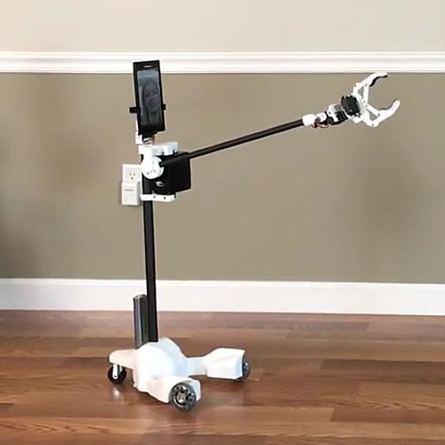 ORIGIBOT Telepresence Robot with Arm and GripperORIGIBOT-Carbon-Fiber-Advanced-Telepresence-Robot-with-Arm-Gripper.jpg